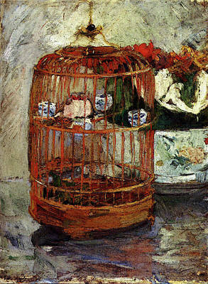 Berthe Digital Art - Morisot Berthe The Cage by Berthe Morisot