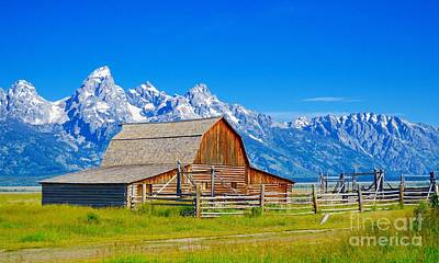 Photograph - Mormon Row Barn 2 by Chalet Roome-Rigdon