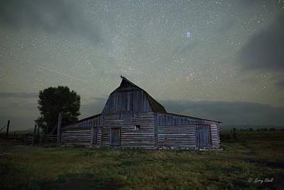 Photograph - Mormon Row Barn Backside by Gerry Sibell