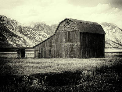 Photograph - Mormon Row Barn No 1 by Sandra Selle Rodriguez