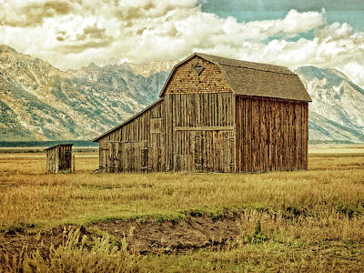Photograph - Mormon Row Barn No 3 by Sandra Selle Rodriguez