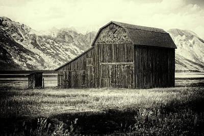 Photograph - Mormon Row Barn by Sandra Selle Rodriguez
