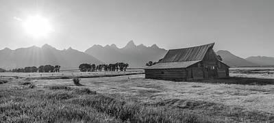 Photograph - Mormon Row Barn Sunsetting  by John McGraw