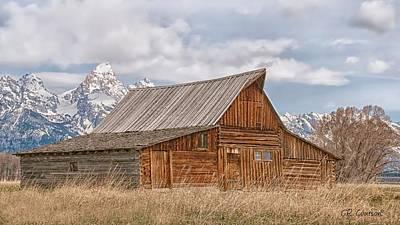 Photograph - Mormon Row by CR  Courson