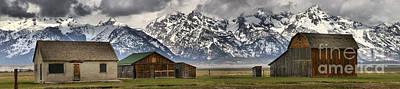 Photograph - Mormon Row Homes Panorama by Adam Jewell