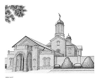 Digital Art - Vernal, House Of The Lord In Pointillism by Gerald Lynch