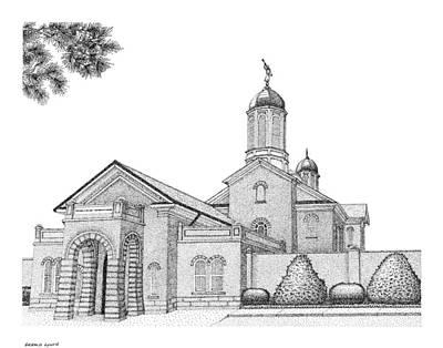Digital Art - Mormon Temple Art Vernal by Gerald Lynch