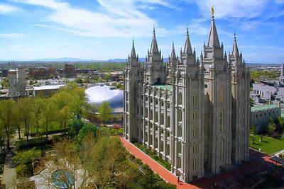Photograph - Mormon Temple Salt Lake City Ut by Douglas Pulsipher