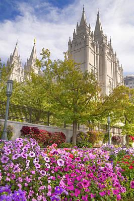 Mormon Temple Salt Lake City Art Print