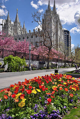 Photograph - Mormon Temple by Utah Images