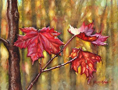 Painting - Morning After Autumn Rain by Shana Rowe Jackson