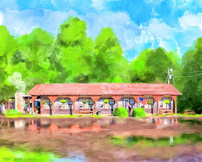 Painting - Morning After The Rain - Oglethorpe Barbecue by Mark Tisdale