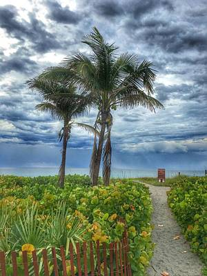 Photograph - Morning After The Storm Delray Beach Florida by Lawrence S Richardson Jr