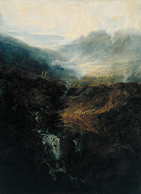 Painting - Morning Amongst The Coniston Fells by William Turner