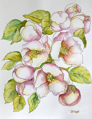 Painting - Morning Apple Blossoms by Inese Poga