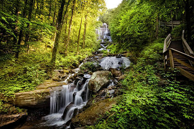 Photograph - Morning At Amicalola Falls by Debra and Dave Vanderlaan