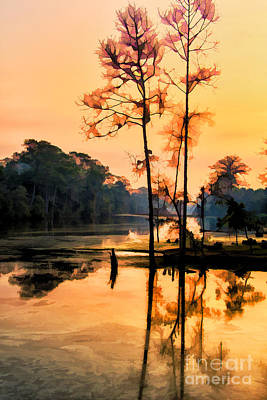 Photograph - Morning At Angkor Wat by Rick Bragan