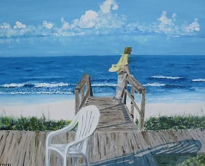 Morning At Blue Mountain Beach Art Print by John Terry