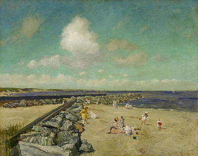 Painting - Morning At Breakwater, Shinnecock by William Merritt Chase