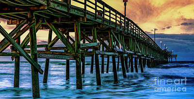 Photograph - Morning At Cherry Grove Pier by David Smith