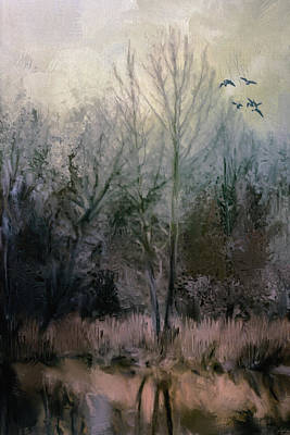 Peaceful Scene Painting - Morning At Fairground Swamp by Jai Johnson