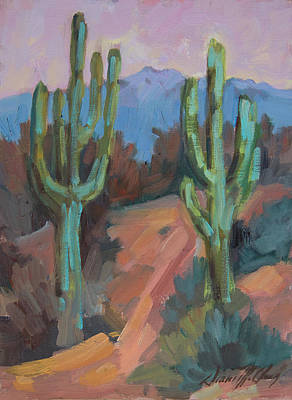 Art Print featuring the painting Morning At Fort Apache by Diane McClary