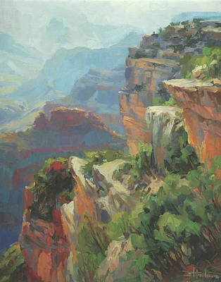 Climb Painting - Morning At Hopi Point by Steve Henderson