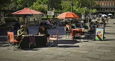 Photograph - Morning At Jackson Square - New Orleans by Greg Jackson
