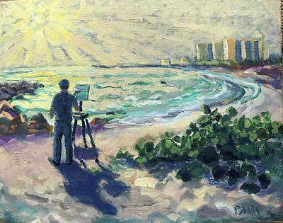 Painting - Morning At Jupiter by Ralph Papa