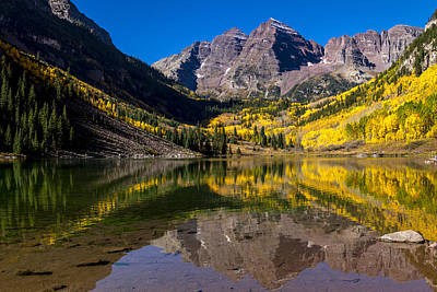 Photograph - Morning At Maroon Bells Aspen Colorado by Teri Virbickis