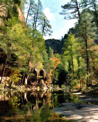 Oak Creek Digital Art - Morning At Oak Creek Arizona by Kurt Van Wagner