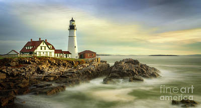 Photograph - Morning At Portland Lighthouse by Jerry Fornarotto