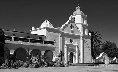 Photograph - Morning At San Luis Rey Mission by Sandra Bronstein