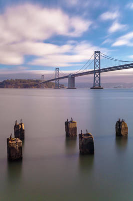 Photograph - Morning At The Bay Bridge by Jonathan Nguyen