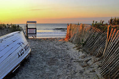 Morning At The Beach Art Print