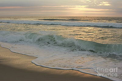 Art Print featuring the photograph Morning  At The Beach by Nicola Fiscarelli