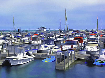 Photograph - Morning At The Marina 1 by Cedric Hampton