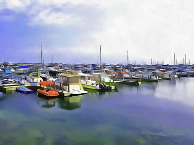 Photograph - Morning At The Marina 2 by Cedric Hampton