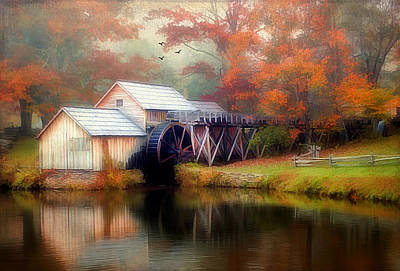 Morning At The Mill Art Print