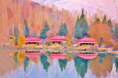 Morning At The Pink Lake No.1 Original