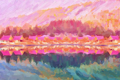 Digital Art - Morning At The Pink Lake No.3 by Serge Averbukh