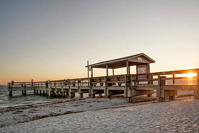 Photograph - Morning At The Sanibel Pier by Chrystal Mimbs