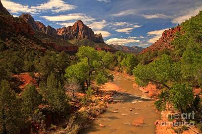 Photograph - Morning At The Watchman by Adam Jewell