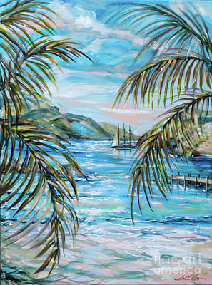 Painting - Morning At Turtle Bay by Linda Olsen