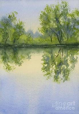 Painting - Morning At Turtle Pond by Victoria Lisi