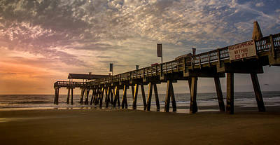 Photograph - Morning At Tybee Island Pier by James Woody