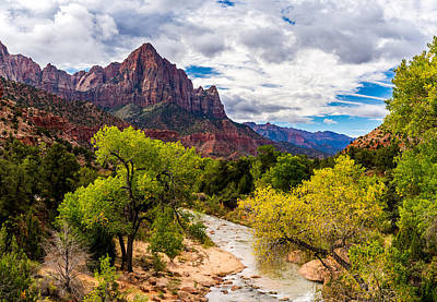 Photograph - Morning At Zion's Watchman by TL  Mair