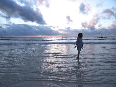 Exploramum Photograph - Morning Beach Walk by Exploramum Exploramum