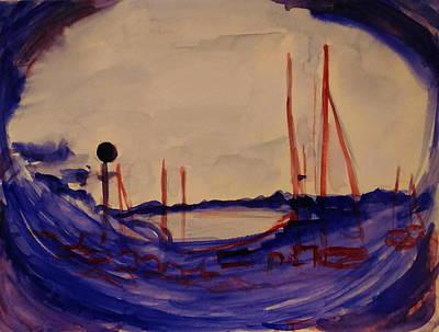 Before Dawn In French Riviera Art Print by Tamara Vitsenkova