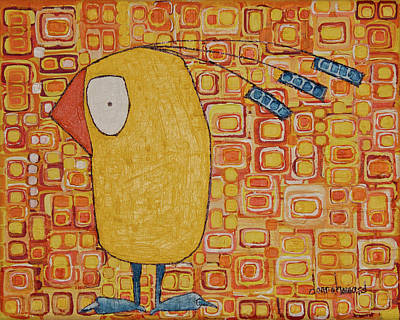 Print featuring the painting Morning Bird by Donna Howard